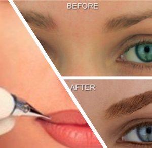 tampa permanent lip liner makeup, tampa permanent eyeliner makeup, eyebrows permanent makeup