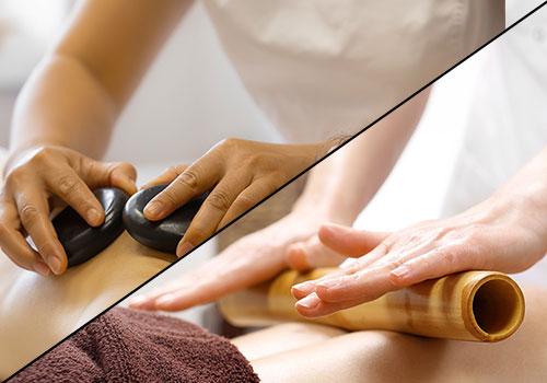 hot stone bamboo massage
